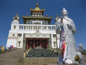 Der goldene Tempel des Buddha Shakyamuni in Elista, Kalmueckien.